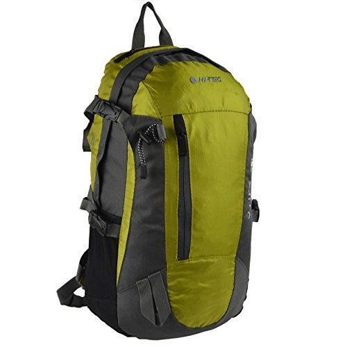 Unisex Herren Damen Outdoor Rucksack Tasche von Hi-Tec Sport Wandern Reisen Handlich Rot Spring