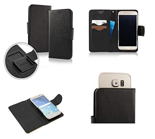 (UNIVERSAL kompatibel) für (HOMTOM HT5) Hülle Cover Case Flip Libro mit innenliegendem Schutz magnetischer Verschluss Brieftasche Kunstleder