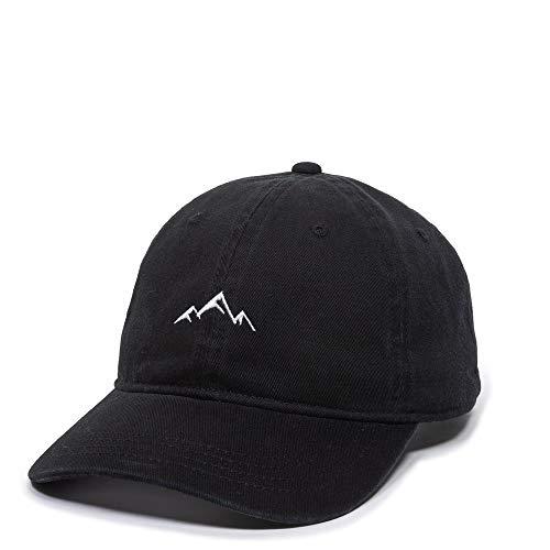 Outdoor Cap -Adult Mountain Dad Hat-Unstructured Soft Cotton Cap, Black, One Size (AMZ4067459)
