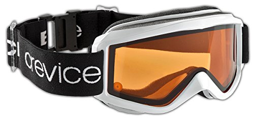 Black Crevice Masque de Ski Taille Unique Blanc