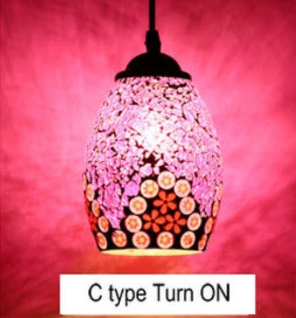 Hanglamp, kroonluchter in Turkse stijl, Marokkaans, retro vintage-licht, E27, mediterrane stijl, decoratie, mozaïek, hanglamp, 19 soorten