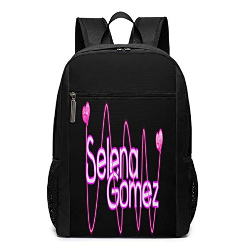 School Travel Business Bag Laptop Backpack Selena_Gomez_3 17 Inch Backpack, School Bag