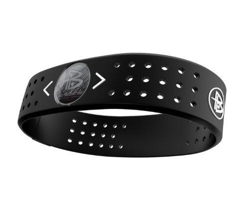 Power Balance Evolution Wide Band Silicone Wristband - Genuine (White, Medium)