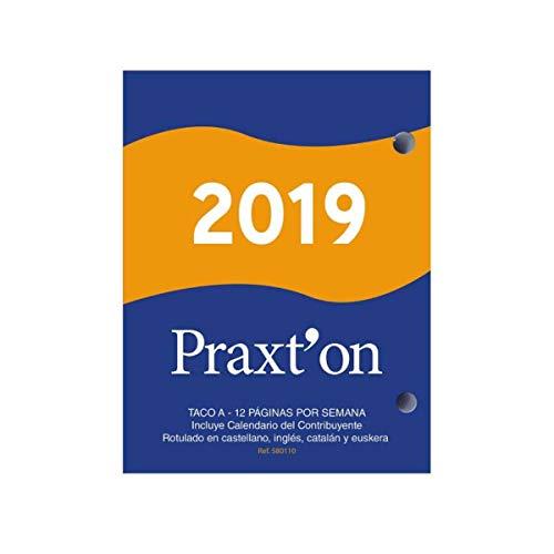 Praxton Taco DE Calendario DE SOBREMESA AÑO 2019 CLÁSICO 12 PAGINAS por Semana