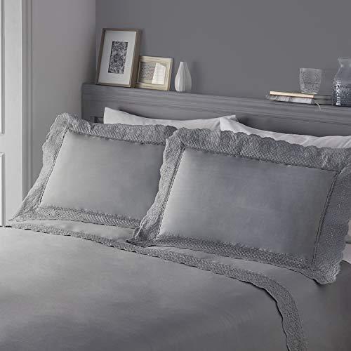 Serene Renaissance Bettbezug-Set pflegeleicht, Polyester-Baumwolle, Silber, Doppelbett