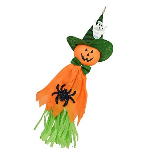 Muñeca de bruja colgante KANGIRU (naranja), jardín, patio, bar, Halloween, terrorífica, decoración para casa encantada