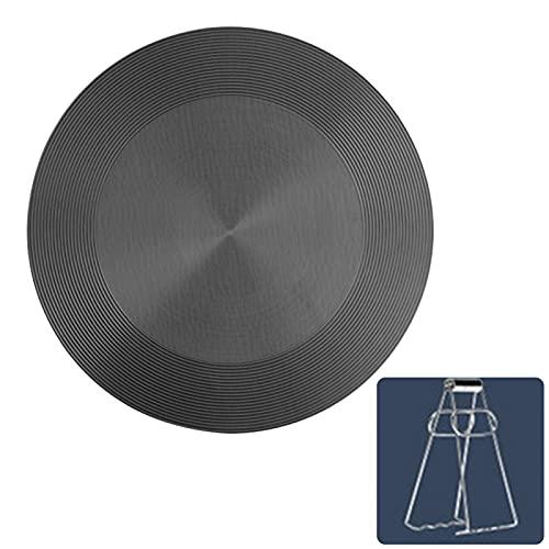 Calidka - Difusor de calor, placa de descongelación redonda para estufa de gas, placa de conducción de calor multifuncional con clip...