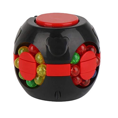 Magic Bean,Fidget Spinners Cubo de descompresión,Juguete giratorio del dedo,Juguetes creativos de descompresión,Juguetes educativos del cubo a cuadros de la punta del dedo