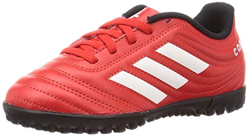 adidas Copa 20.4 Tf J, Scarpe da Ginnastica Unisex-Bambini, Rosso Attivo/Bianco Ftwr/Nero Core, 31 EU
