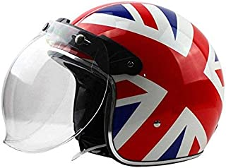 FREE SOUL Motor Wear Bubble Visor for Open Face Helmets, Clear