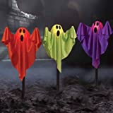 Ghost Fabric Halloween Lawn Stakes, Set of 3