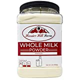 Hoosier Hill All American Whole Milk Powder 2 LBS, rBST Free, Made in USA, Batch tested to be & Gluten Free