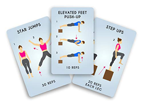 Gift Republic GR490056 100 Get Fitness Activity Cards, Blue