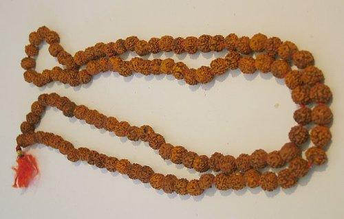 Rudraksh Mala Perles -108, perles, longueur totale : 112 cms