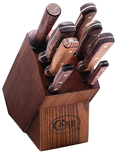 CASE XX WR Nine Piece Case Household Cutlery Block and Knife Set Item #10249