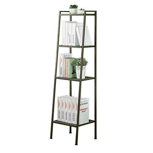 JCNFA planken boekenplank trapeziumvormig ontwerp smeedijzer metalen frame opslag rek honingraat mesh laag, 4 lagen, breedte 40cm 15.74 * 15.74 * 57.87in BRON