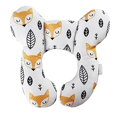 Almohada de Cuello para niños Asiento de Coche, bebé Viajes con Almohada Cuello de Cabeza Soporte de la Almohada en Forma de U para sillas de Asiento de Coche