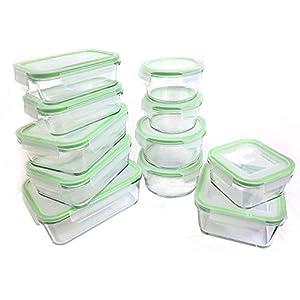 kinetic 耐熱ガラス製 保存容器 11個セット BPAフリー 耐熱耐冷 電子レンジ 食器洗い機可 漏れ防止