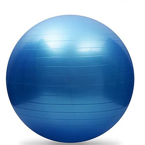 XIAMIMI Gymnastikball (mehrfache Farben, 95cm Durchmesser), Yoga Ball, Lieferung Kugel mit Fast-Pumpe, Anti-Explosion und extra dick,Blau