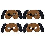 Amosfun 4 Stück Kinder Tierkostüm Maske Filz Gesichtsmaske Performance Party Gesichtsmaske 24.5 * 11CM Puppy
