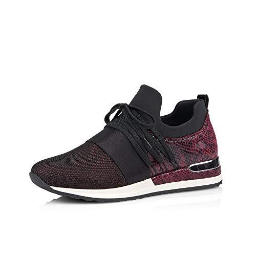 Remonte Mujer Zapatos de Cordones R2502, señora Calzado Deportivo