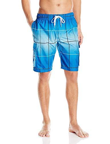 Kanu Surf Men's Legacy Swim Trunks (Regular & Extended Sizes), Vector Royal Blue, 3X