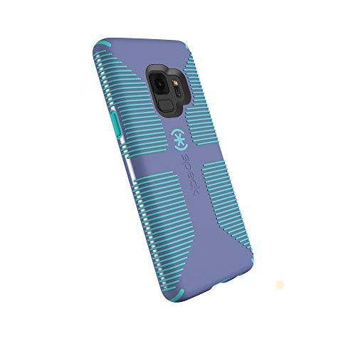 Capa de telefone compatível com produtos Speck para Samsung Galaxy S9, Capa de aderência Candyshell, Wisteria Purple/Mykonos Blue
