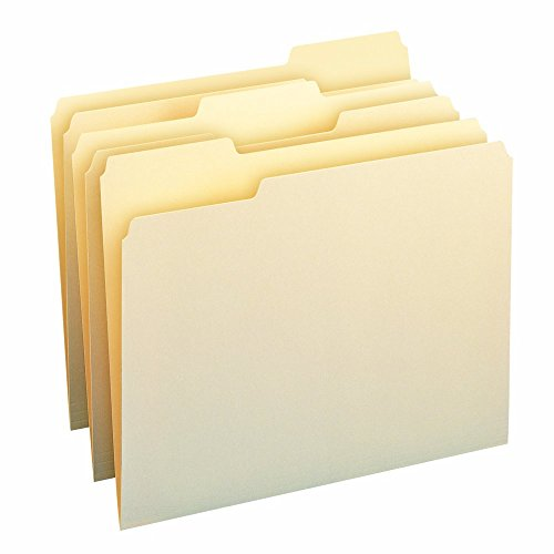 Smead 100% Recycled File Folder, 1/3-Cut Tab, Letter Size, Manila, 100 Per Box (10339)