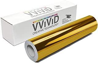VViViD Chrome Gold Gloss DECO65 Permanent Adhesive Craft Vinyl for Cricut, Silhouette & Cameo (7ft x 11.8