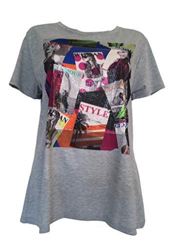 Alex(e) T-Shirt Femme Manches Courtes Vêtement Made in France Grandes Tailles Mode Ete Chic Imprimé Vogue Mini (XL)