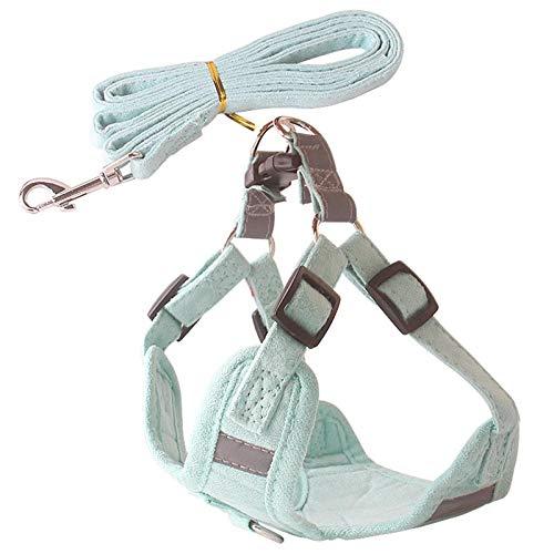 Pufee Chaleco Ajustable para Perros Reflectante con Cuerda Correa para Perros Incluida para Perros Pequeños Medianos y Grandes 160 cm 1 Pieza