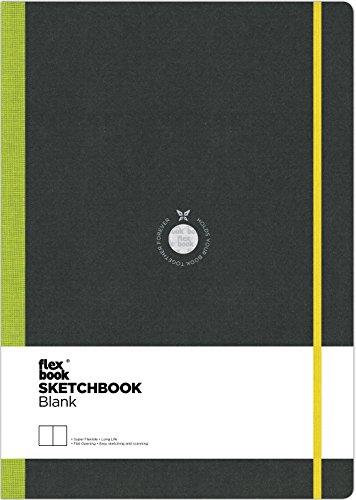 Flexbook Notizbuch-Note Spezial Skizzenbuch 96Seiten 22 x 31 cm Couverture Noire/Dos Vert Anis