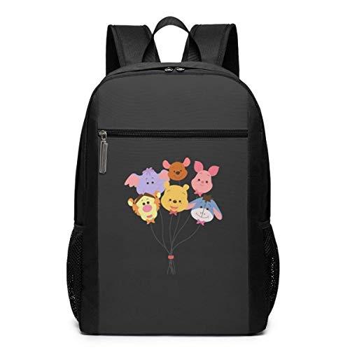 IUBBKI Rucksack 17 Zoll, Winnie The Pooh Große Laptoptasche Travel Hiking Daypack für Männer Frauen Schularbeiten