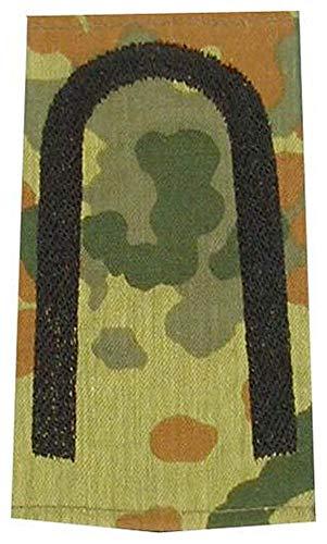 1 Paar Bundeswehr Rangabzeichen Flecktarn/Schwarz Rangschlaufe Rangschlaufen Abzeichen Schlaufe verschiedene Dienstgrade (Unteroffizier)
