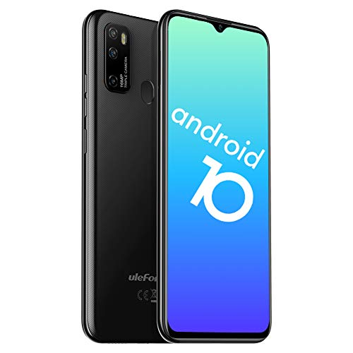 Ulefone Note 9P Smartphone ohne Vertrag - Android 10 Octa-Core Handy Dual-SIM 4GB+64GB 3in1 Kartensteckplatz 6,52 Zoll Bildschirm Verdreifachen Rückseite Kamera mit 5MP Makro-Objektiv(Schwarz)