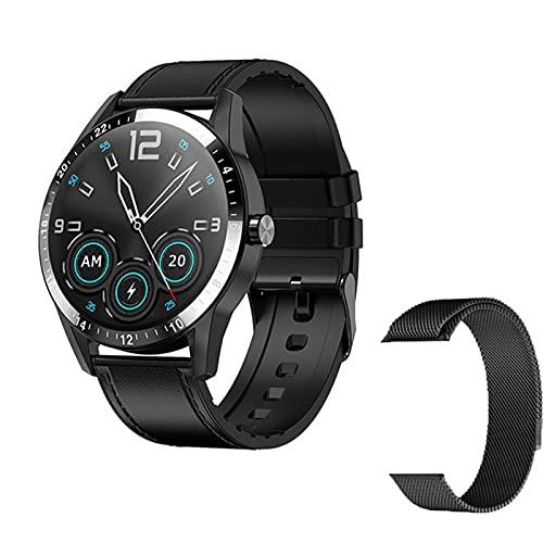 ZYDZ G20 Smart Watch 1.3 Círculo Completo HD Big Screen Bluetooth Llamada De Bluetooth para iOS Android Smartwatch Hombre Y Reloj De Mujeres Deportes Aptitud Pulsera,C