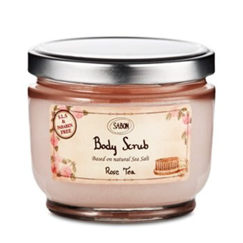 支店楽しむ表面的なサボン Body Scrub Rose Tea ボディスクラブ ローズティー600g[アウトレット]