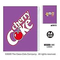 カミオジャパン 6ポケット A4 クリアファイル ファスナー付 cherry Cok (18764 LOGO)