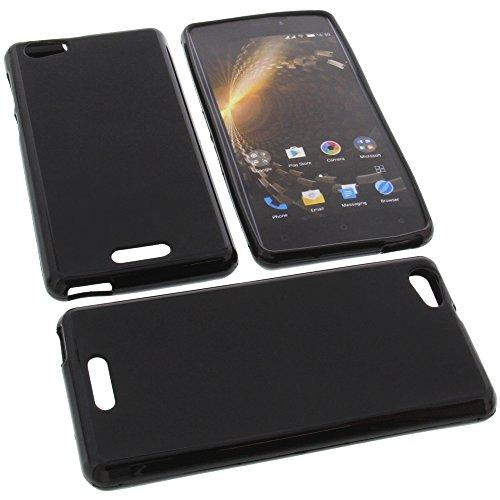 foto-kontor Tasche für Allview P9 Energy Mini Gummi TPU Schutz Handytasche schwarz