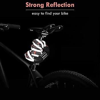 Kriogor Chaînes Antivol, Chaine Antivol Vélo à Code pour Vélo de 5 Chiffres sûr Cadenas à Cadenas Chaîne Longueur Totale 100cm pour Vélo Moto