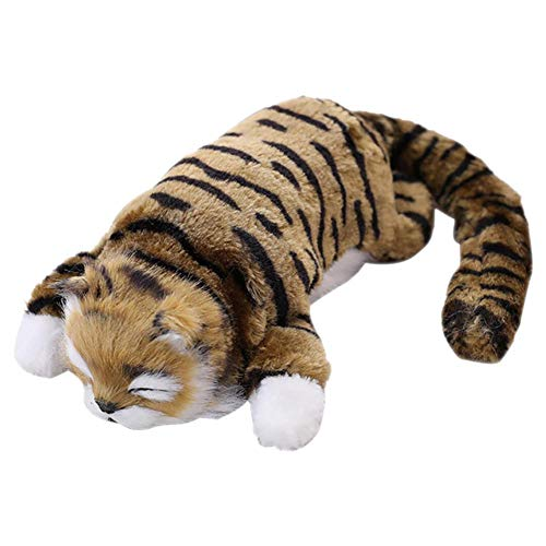 Pluche pop Elektrische kwispelende kat, huisdier kauwspeelgoed Grappige interactieve huisdieren Kussen Kauwbeet Kickbenodigdheden voor katten