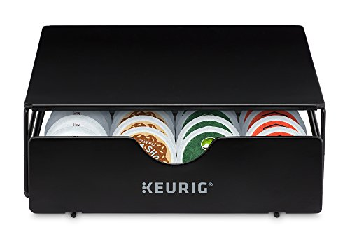 k cup storage solutions Keurig Slim Non-Rolling Storage Drawer, Coffee Pod Storage, Holds up to 24 Keurig K-Cup Pods, Black