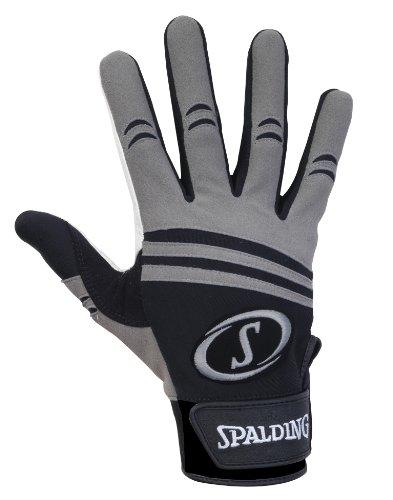 Spalding Schlaghandschuhe Pro Series mit Ziegenfell Handfläche, schwarz/grau, Medium