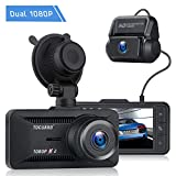 TOGUARD Both 1080P Dual Dash Cam Front and Rear Dual Lens in Car