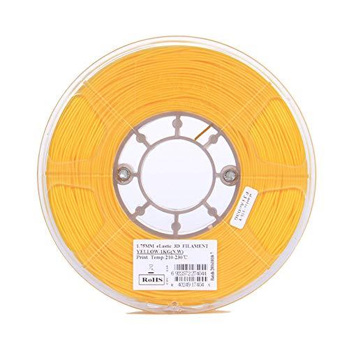 3D Printer Filament 1.75mm, Flexible TPE Filament 1kg, TPU83A-Yellow