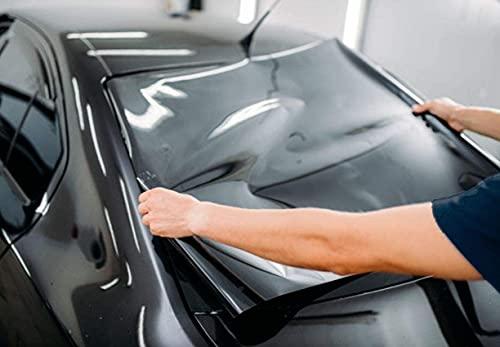 FuTaiKang Fenster Film Sun Tint Film Auto Glas Explosionsgeschützte Solar Screen Isolierung Fenster Film Dach 3 mt x 50 cm schwarz (1%)