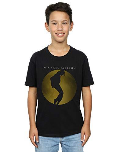 Michael Jackson Niños Moon Circle Camiseta Negro 7-8 Years