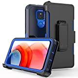 xihaiying Phone Case for Moto G Play 2021 Case,Heavy Duty Hard Shockproof Armor Protector Case Cover with Belt Clip Holster for Motorola G Play 2021 Phone (Navy Blue)