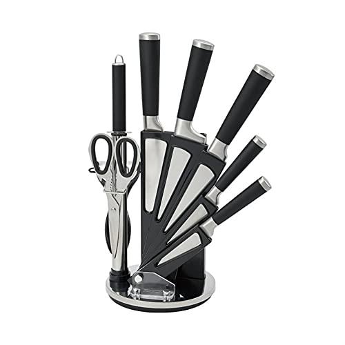 Conjunto de cuchillos de chef Conjunto de cuchillos de cocina - 9 PCS Conjunto de cuchillos de cocina de acero inoxidable - Juego de cocina de cuchillos - Cuchillo de cocina ultra afilado - Regalos de