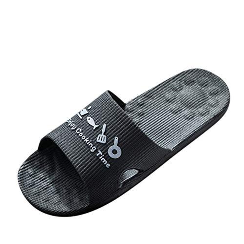 Clogs Hausschuhe Badeschuhe Zehentrenner Pantoletten Sandalen Trekking Sandalen Bade Sandalen Flops Offroad Sneaker Erholungsschuhe Pantoffeln (41,Herren-Schwarz)